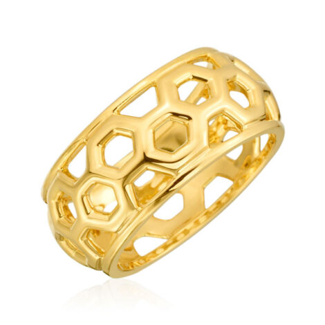 "Gumuchian Honeybee ""B"" 18k Yellow Gold Ring_5f7e2f753d8a2.jpeg"