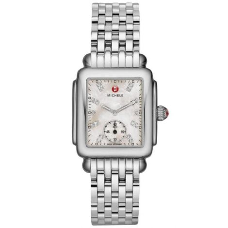 Michele Deco Mid Diamond Dial Stainless Steel Watch MWW06V000002_5f85fd441073b.jpeg