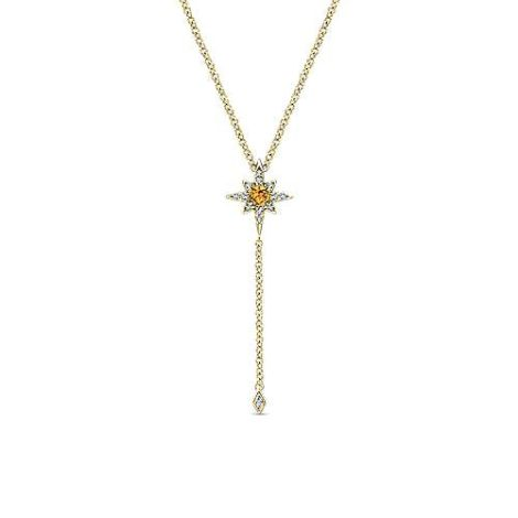 Gabriel-14K-Yellow-Gold-Citrine-and-Diamond-Star-Y-Necklace-with-Diamond-DropNK5443Y45CT-1