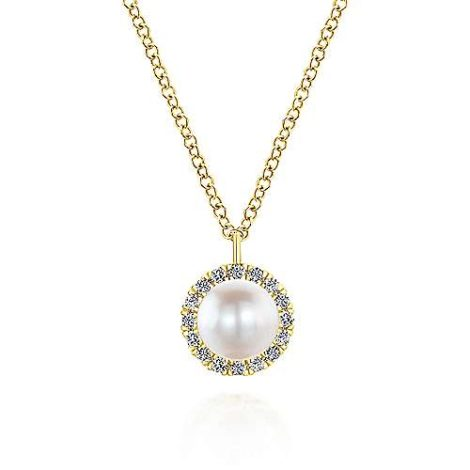 Gabriel-14K-Yellow-Gold-Cultured-Pearl-and-Diamond-Halo-Pendant-NecklaceNK5619Y45PL-1